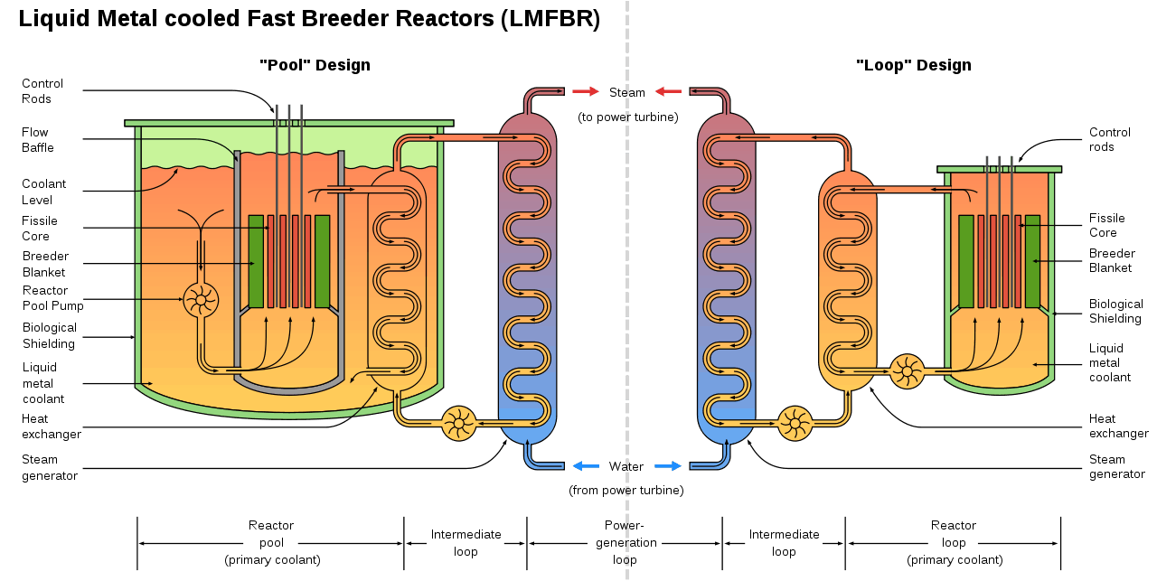 Liquid Metal cooled Fast Reactors designs. Integral (pool) design vs. Loop design