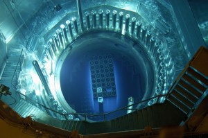 Cherenkov Radiation in the reactor core.