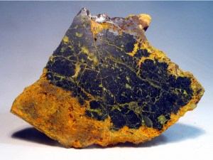 Uraninite - the most common uranium ore.