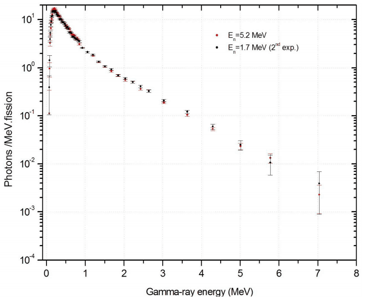 Energy Spectra of Prompt Gamma Rays