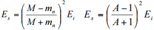 equation momentum energy