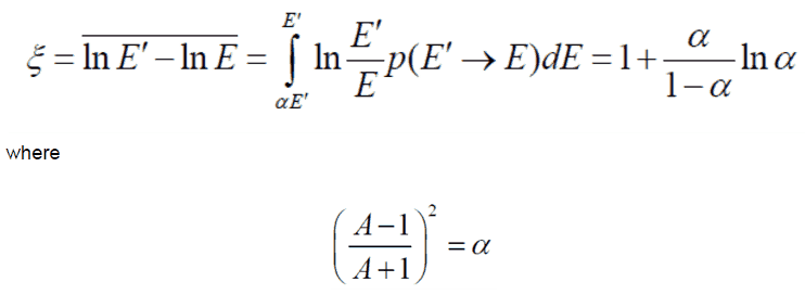 logarithmic energy decrement - equation