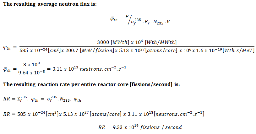 Neutron Flux - Reaction Rate - Thermal Reactor