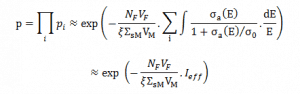resonance escape probability - equation