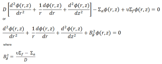solution of diffusion equation - cylindrical reactor