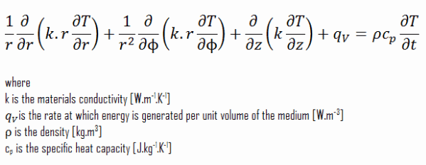 heat equation - cylindrical coordinates