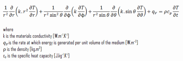 heat equation - spherical coordinates