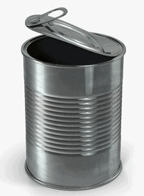 tin plated can